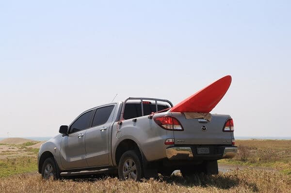 How to transport a kayak in a pickup truck