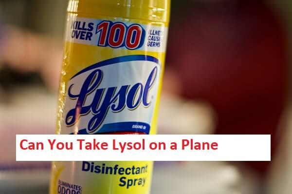 Can You Take Lysol on a Plane